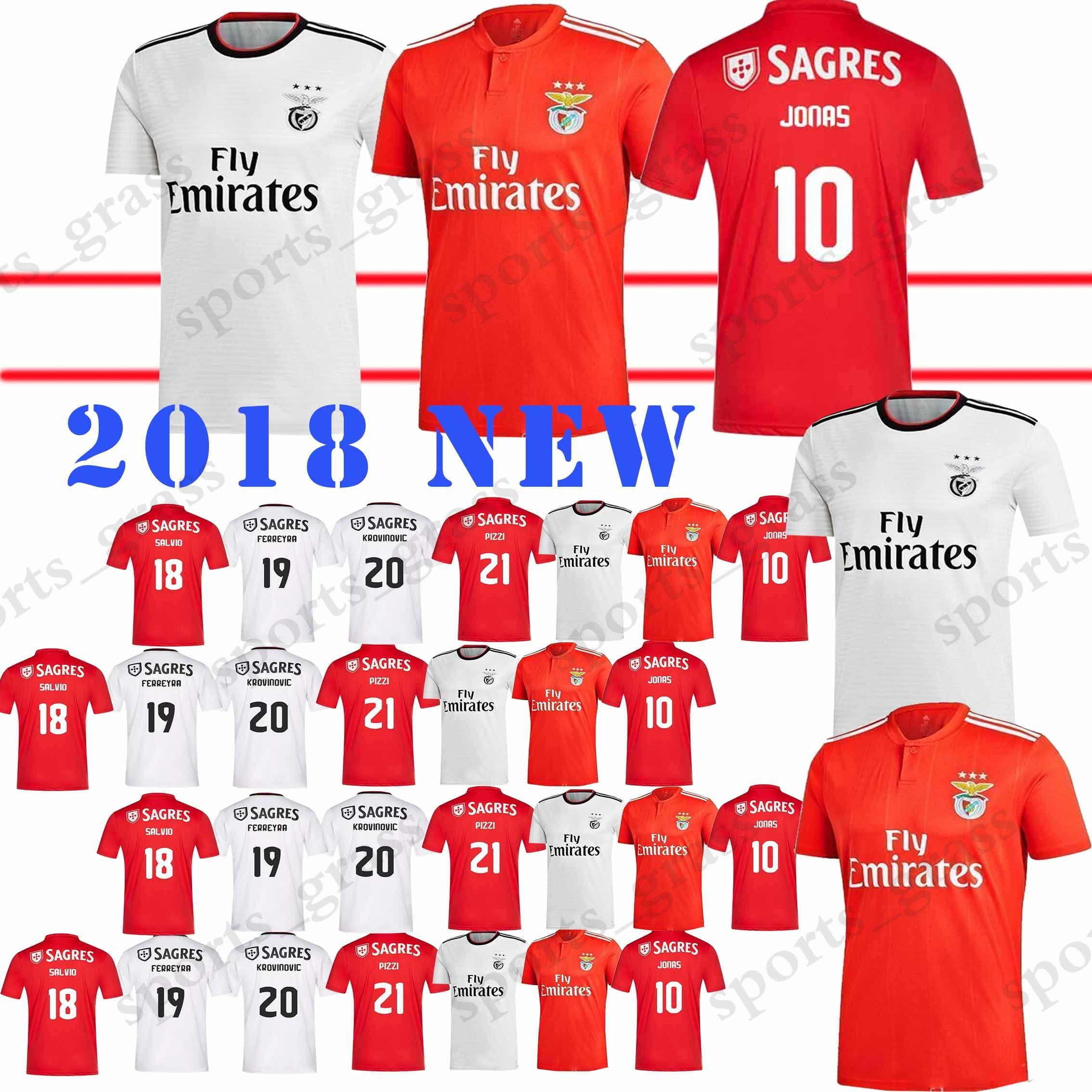 differently 0f260 76e4f Benfica 10 Jonas Soccer Jersey Home Red SEFEROVIC GABRIEL KALAICA SALVIO  Soccer shirt Away ZIVKOVIC ELISEU Football uniforms