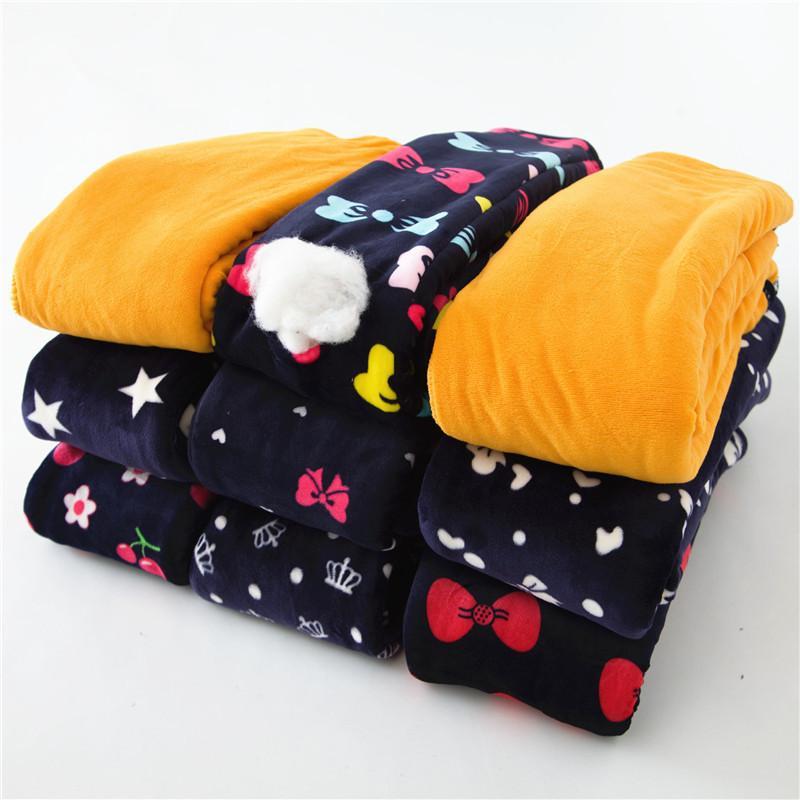 76031a0b0dc7 Winter Warm Girls Leggings Thicken Bottom Trousers Leggins Children ...