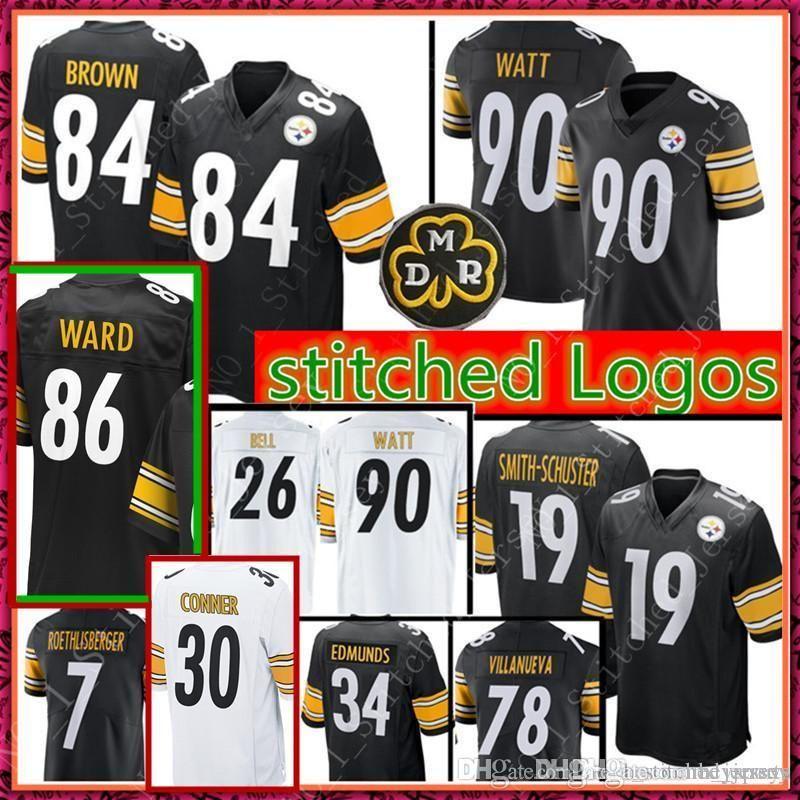 quite nice 88ab8 fa2c8 7 Ben Roethlisberger 19 Juju Smith-Schuster 84 Antonio Brown 86 Hines Ward  90 T.J. Watt Jersey Cheap Pittsburgh Steelers 75 Greene Jersey