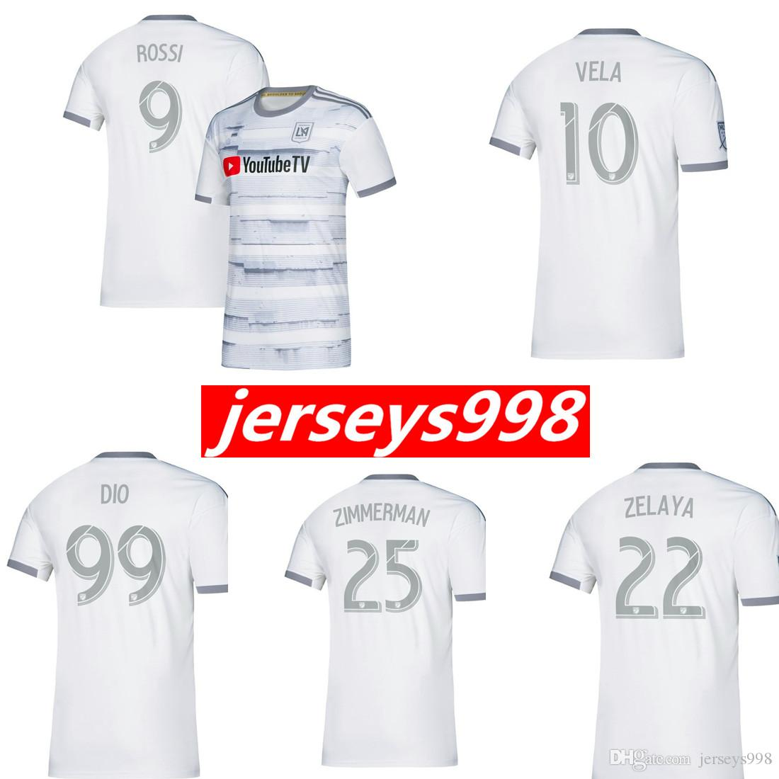 low priced d009d b6e7d NEW 2019 LAFC Carlos Vela Soccer Jerseys 19/20 Home ZELAYA GABER ROSSI  CIMAN ZIMMERMAN Black Parley Primary WHITE Football Shirts