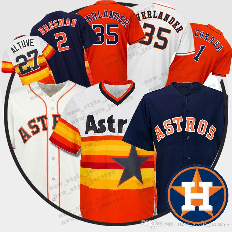 buy popular 3f55f b9ec2 Altuve Houston Men Astros Jersey 35 Justin Verlander 2 Alex Bregman 27 Jose  Altuve 1 Carlos Correa Baseball Jerseys