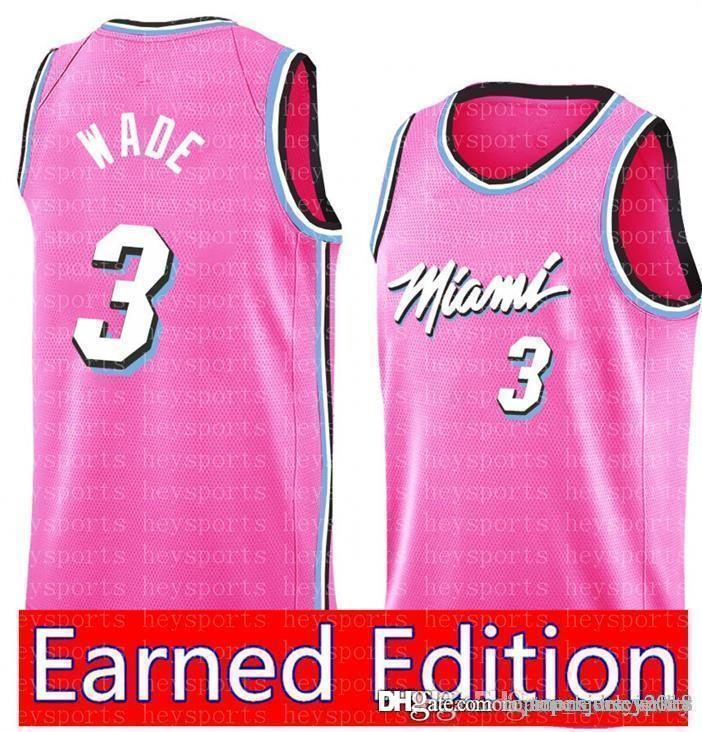 free shipping e6690 b4701 Miami Dwyane 3 Wade Heat Jersey Philadelphia Jimmy 23 Butler 76ers Earned  Edition Derrick 25 Rose Timberwolves Stephen 30 Curry Jerseys