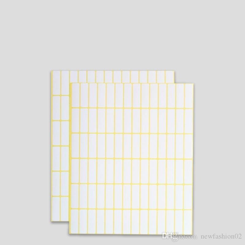 image relating to Printable Label Sheets called A5 blank paper label sticker 15 sheets multi dimensions white rectangle blank adhesive sticker guide print labels towards printer can be handwritin