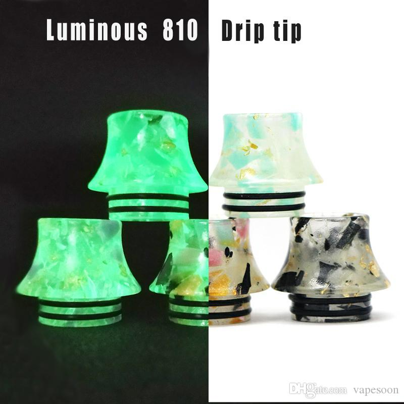 Vapesoon Luminous 810 Drip Tip for IJUST 3 TFV12 Prince TFV8 etc colorful resin material drip tip 810