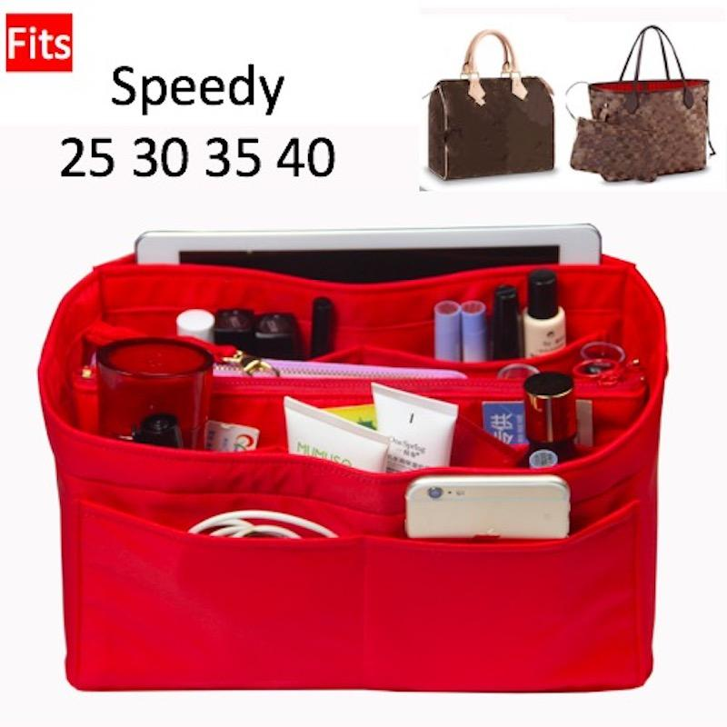738bdd5845f Speedy 25 30 35 40Neverfull Purse Organizer Waterproof Oxford Cloth Handbag  Organizer Bag In Bag Tote W/Detachable Zip Pocket Cheap Makeup Cases Makeup  Bags ...