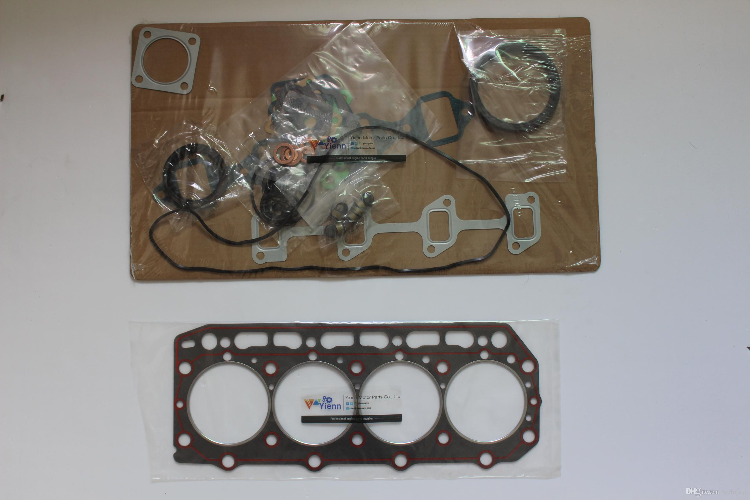 4JH4 4JH5 engine full overhaul gasket kit for Yanmar marine boat diesel  upper lower repair gasket set with head gasket