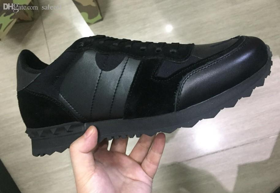 Top Mix Fashion Sneakers Camo Camouflage Rockrunner Scarpe Casual Scarpe da uomo Designer falt Shoe 35-46
