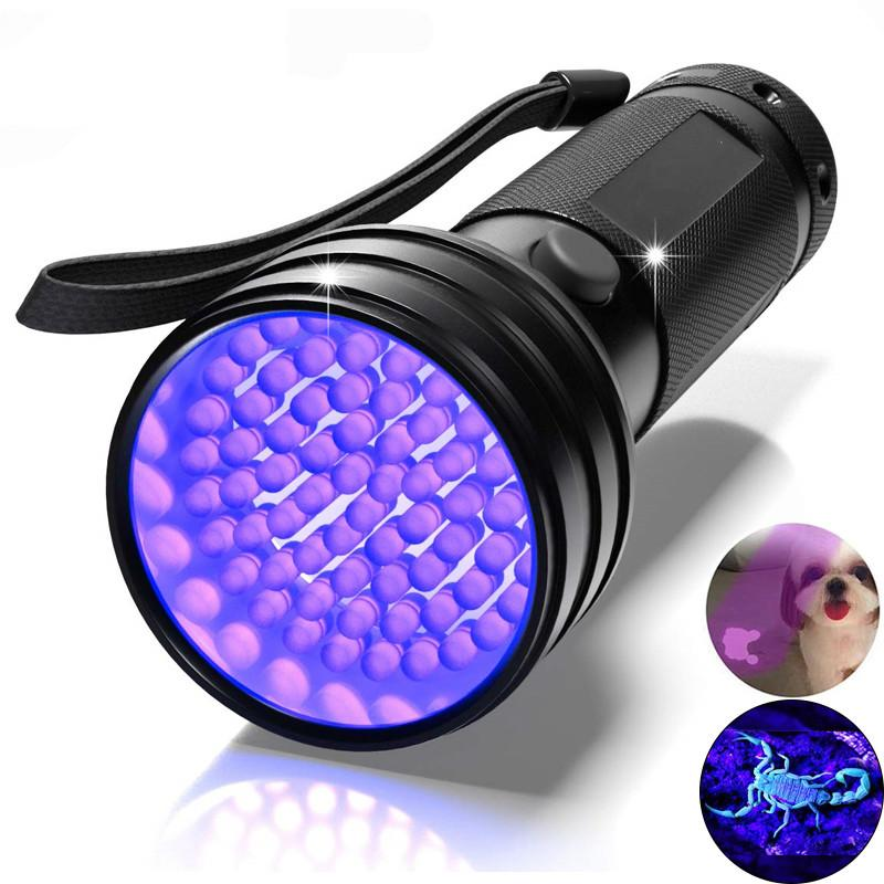 UV Flashlight Black Light 51 LED 395 NM Ultraviolet Torch Blacklight Detector for Dry Pets Urine&Pet Stains&Bed Bug Factory Price