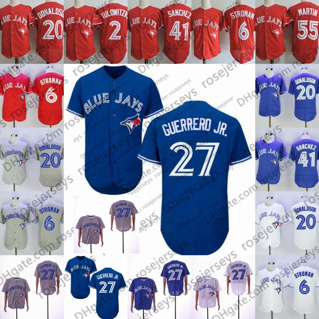 d92b9ab1f 2019 2019 Blue Jersey  13 Lourdes Gurriel Jr. Jays 15 Randal Grichuk 41  Aaron Sanchez 66 Bo Bichette Toronto Men Women Youth Kid White From  Rosejerseys