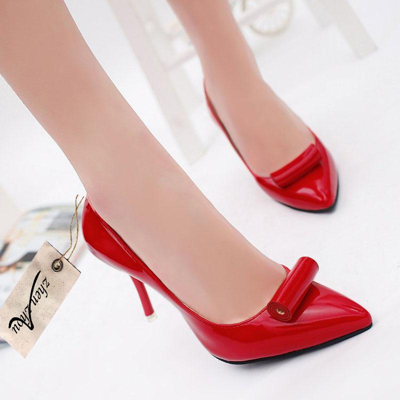 f6f9bcfdf85 Designer Dress Shoes Women S Red Single Shoe New Spring And Autumn Women S  Wedding Dress High Heels Boat Shoes For Men Navy Shoes From Deals17