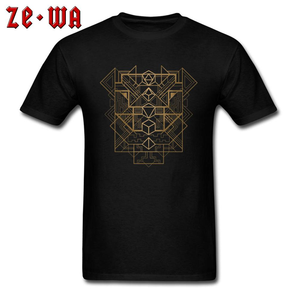 649dbcbe Punk Men T Shirt DnD Dungeon And Dragons Tshirt Gamer Dice Deco Golden  Geometric Designer T Shirts For Male Cotton Streetwear Clever T Shirts Best  Tee ...