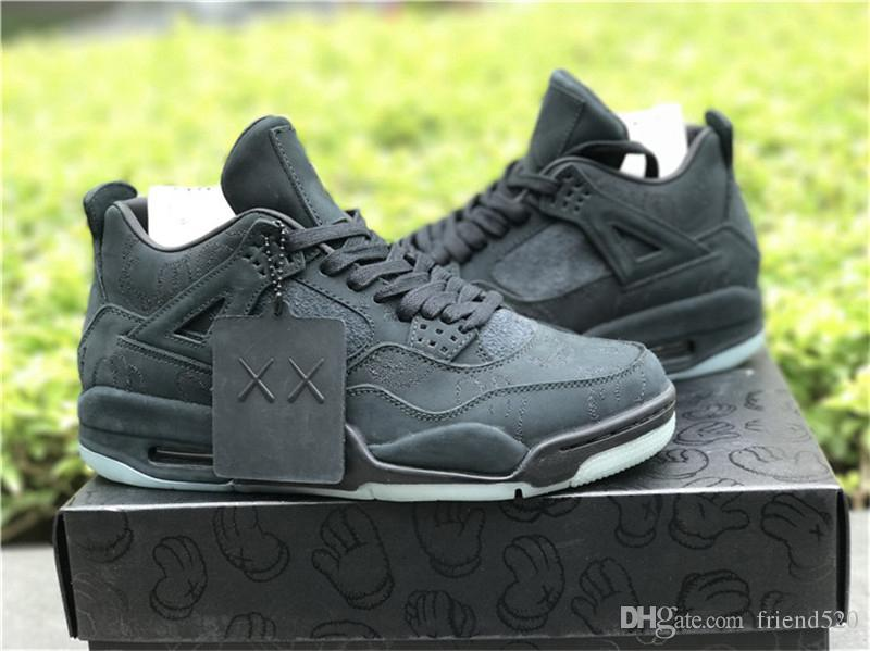 ef80312c065964 Newest Originals KAWS X 4 Cool Grey Black 4S IV Basketball Shoes For ...