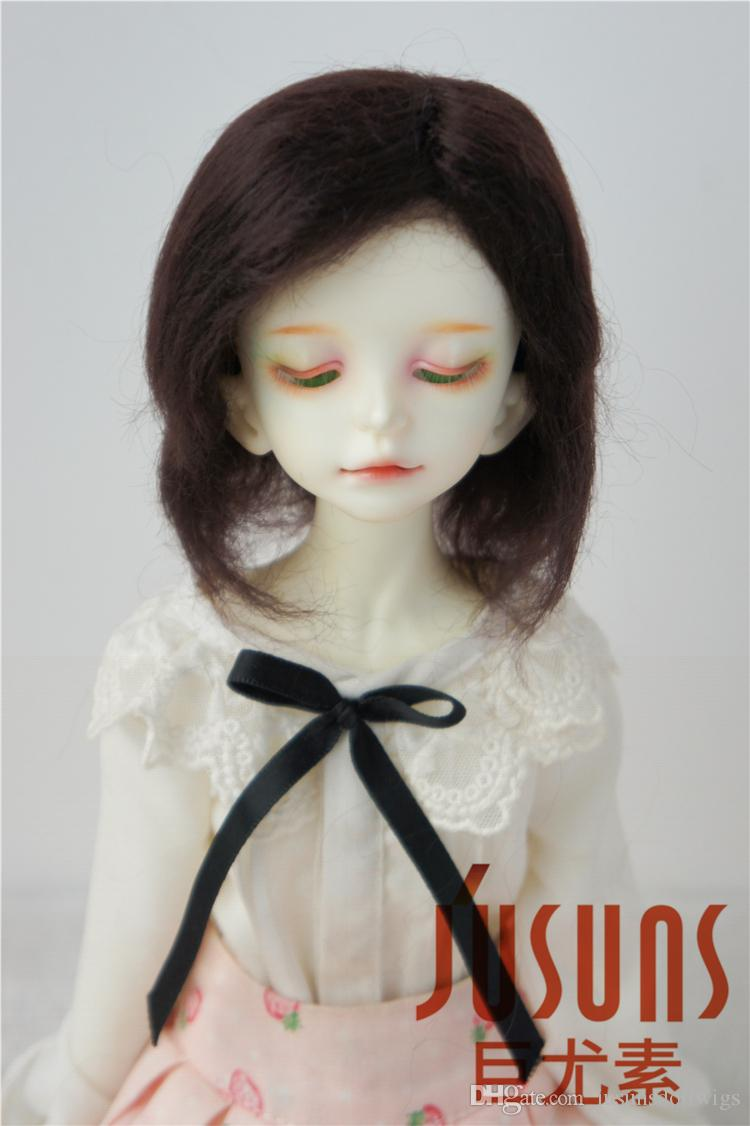 Jusuns 7-8inch Short Cut Mohair Doll Wig MSD Resin Doll Hair 1/4 BJD Doll Accessories 3 Colors Available JD014
