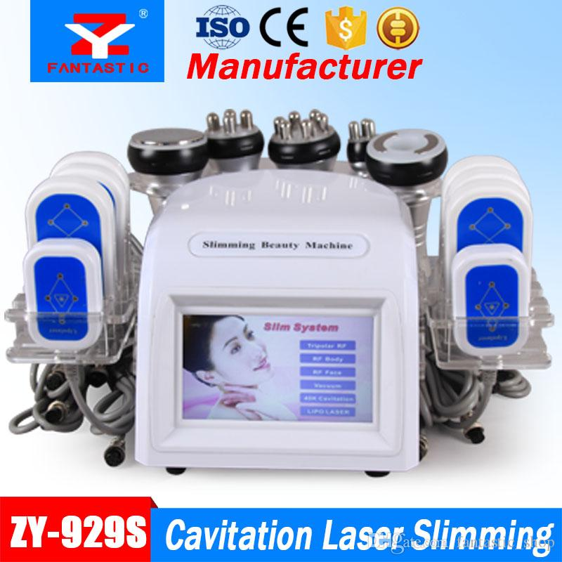 Cavitation Laser Slimming Machine 40K Cavitation Vacuum liposuction 8 Pads  650nm LLLT Lipo Laser Body Shape Salon Equipment with CE