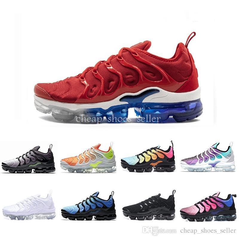 best service 18fac e779c Zapatos Tn Plus 2019 Nuevos Chaussures De Aire Para Hombres Y Mujeres In  Metallic Plus Tn Zapatillas De Running Deportes Uva Volt Hyper White Negro  ...