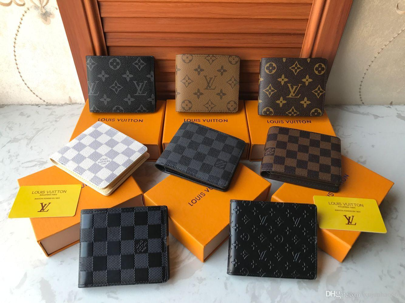 65b32772d328 With Box Mens Wallet 2018 New Men s Leather With Wallets For Men Purse  Wallet Men Short Wallet