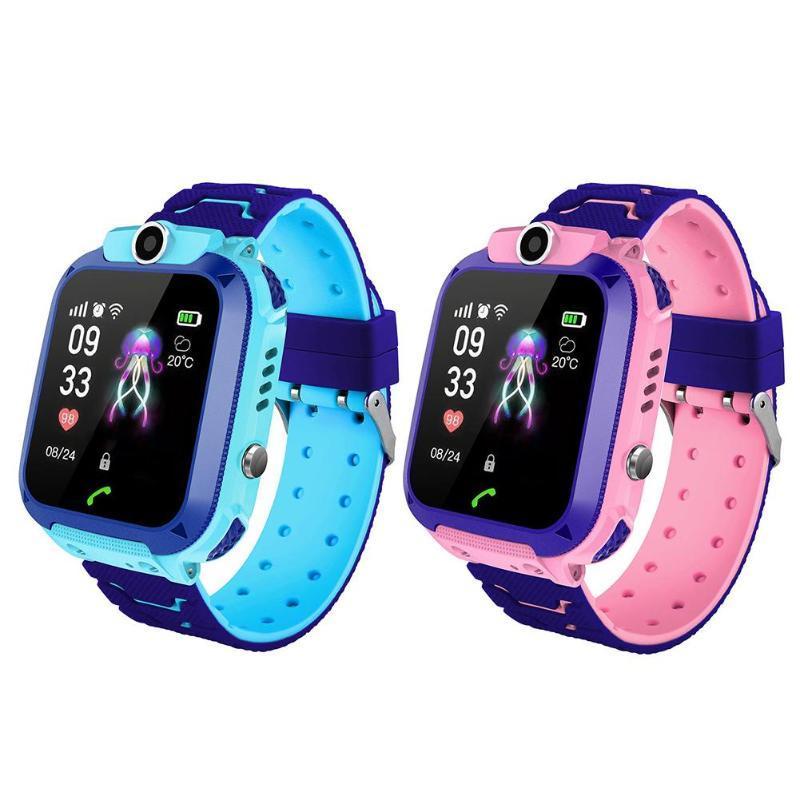 Smart Watch Kids SOS Alarm Clock GPS Anti-lost SIM Card Children Digital  Wristwatch With Remote Monitoring Kids Birthday Gifts
