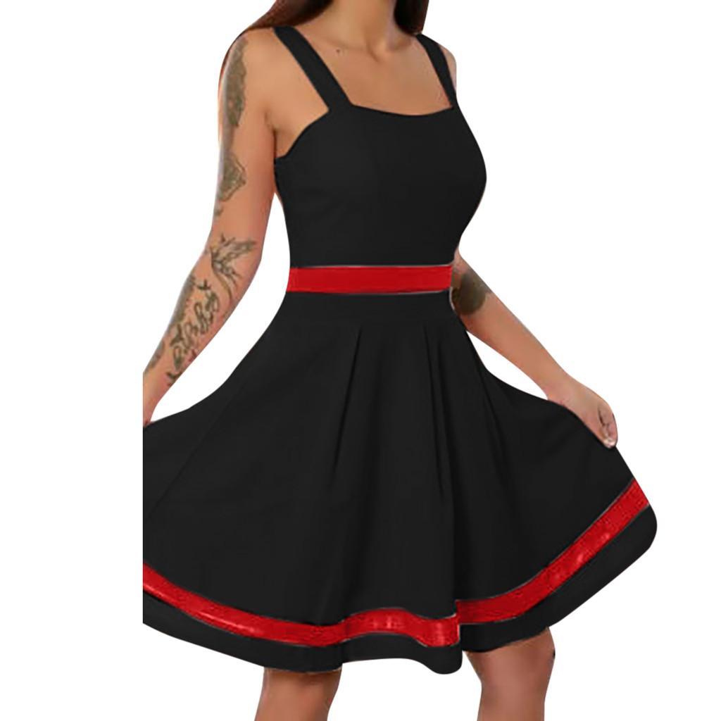 Más el tamaño de vestidos vintage para mujeres 4xl 5xl ropa de fiesta 5xl tops sexy dress mini patchwork tank tops elegante femme vestidos