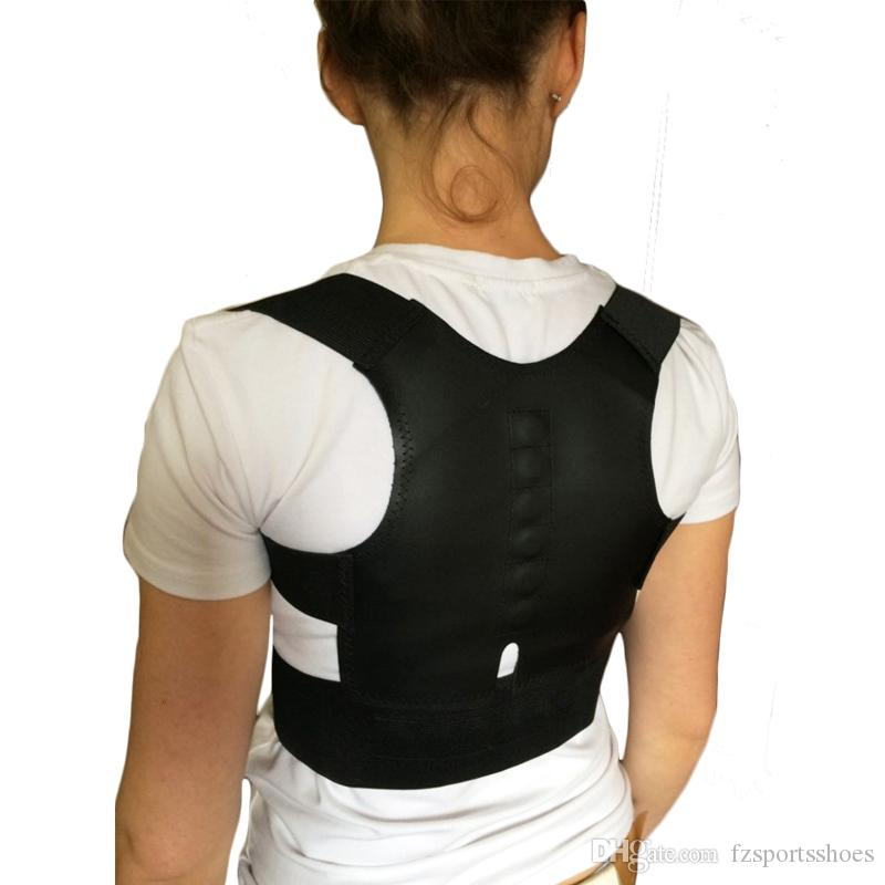 Men Women Magnetic Posture Corrector Back Belt 12 High Energetic Magnets Back Bandage Brace Shoulder Support For Sport Safety 47602