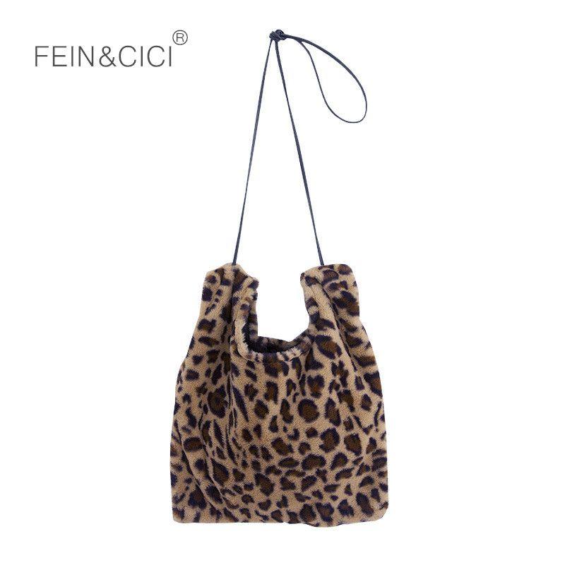 6de00e097161 Fur Bag Animal Print Leopard Warm Totes Handbag Luxury Famous Brand Vintage  Shoulder Bag Large Capacity Clutch 2018 Winter New Handbag Brands Cheap Bags  ...