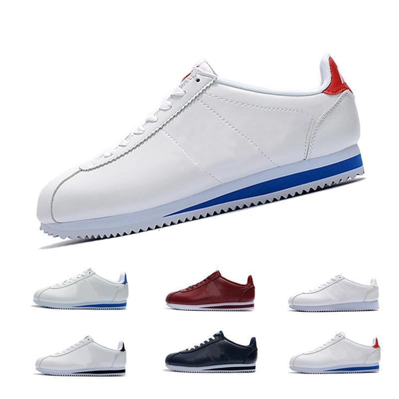 low priced 02b0a cff87 Classic Cortez Basic Leather Casual Shoes Cheap Fashion Men Women Black  White Red trainer Skateboarding sneakers zapatillas hombre