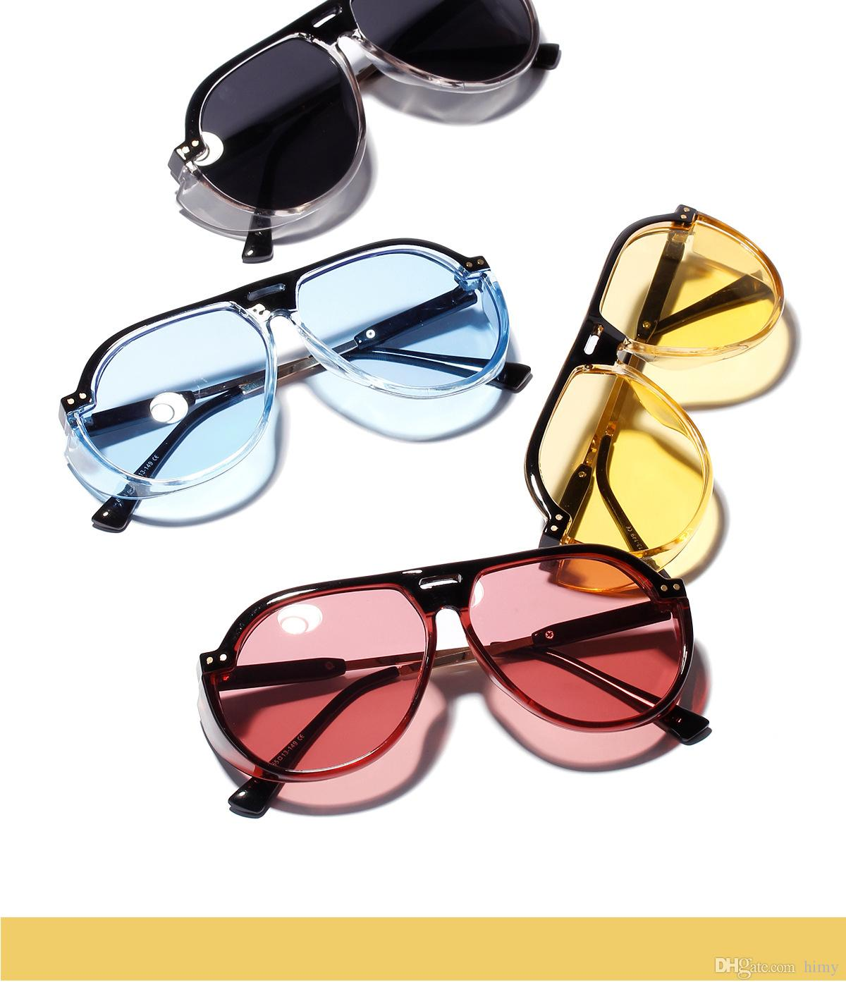 c7845d61c91 2019 New Transparent Color Frog Mirror Female Retro Fashion Big Face Big Frame  Sunglasses Male Anti UV Glasses Sunglass Cheap Sunglasses From Himy