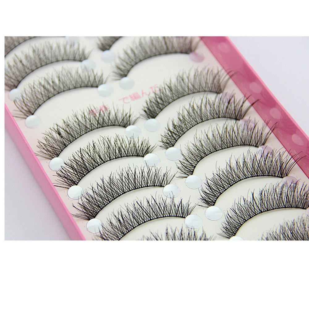 # 501 2018 New Fashion 10 Pairs Mode Faux Cils Cils Make Up Fabriqués à la Main Épais Longue HS-43 Freeship