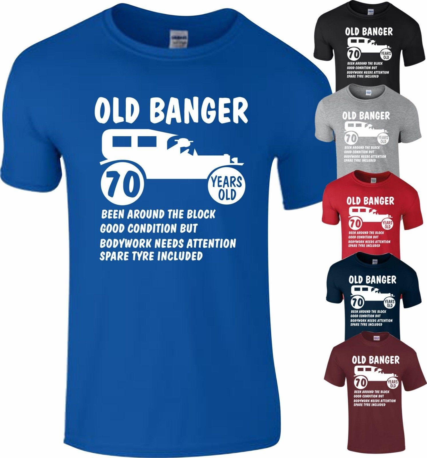 70th Birthday 1948 Age 70 Years Old Banger Present Gift T Shirt Funny Top Unisex Casual Tee Clever 10 From Monkey