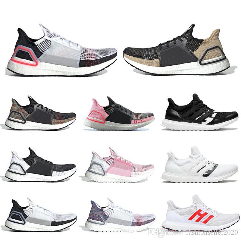 Adidas Boost Zapatillas de running 2019 New ultra boost 19 5.0 para hombre negro blanco ultraboost 3.0 4.0 para zapatillas de deporte de mujer