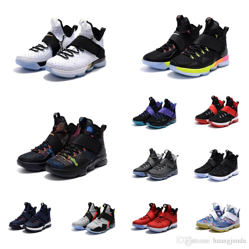 4dc217c5a21 2019 Cheap Woman Lebron 14 IVX Basketball Shoes BHM Christmas Black Team  Red Grey Blue Rio Boys Girls Youth Kids James 23 Sneakers Boots For Sale  From ...