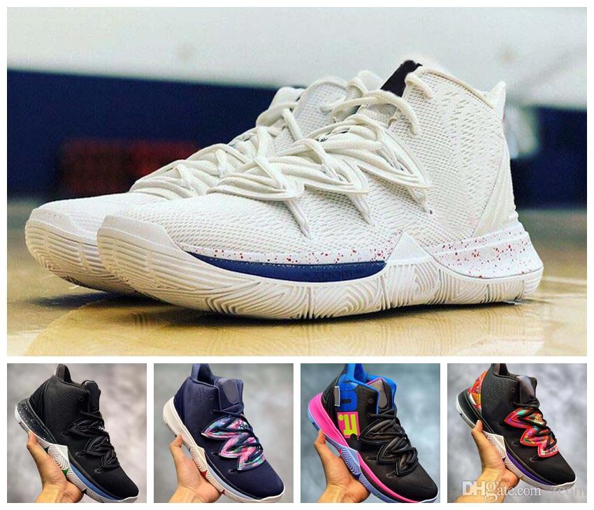 premium selection 63414 921c9 Compre 2019 Limited 5 5S Magia Negra Para Zapatos De Baloncesto De Calidad  Superior Kyrie Chaussures De Basket Ball Mens Zapatillas Sneakers  Zapatillas Con ...