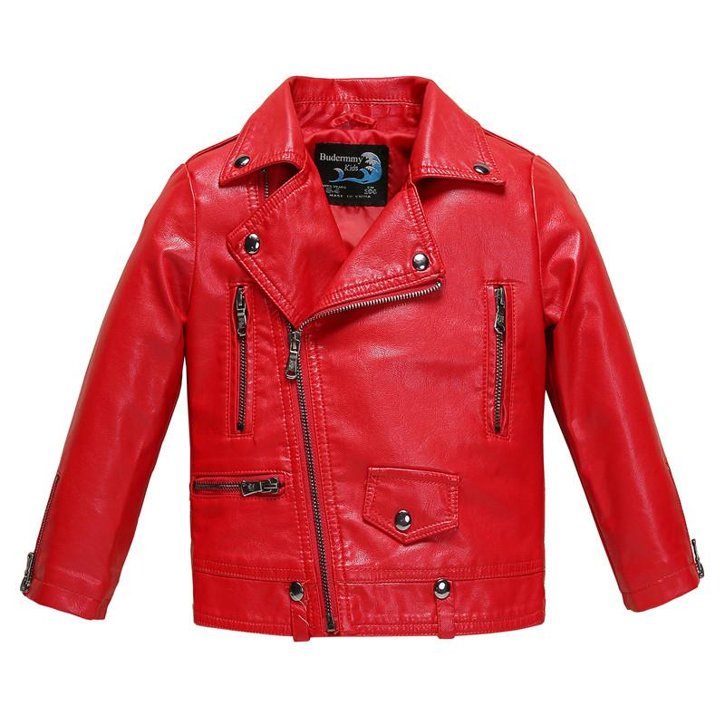 f161216f972a Winter Jacket For Girls And Boys Leather Jackets Red Black Pink ...