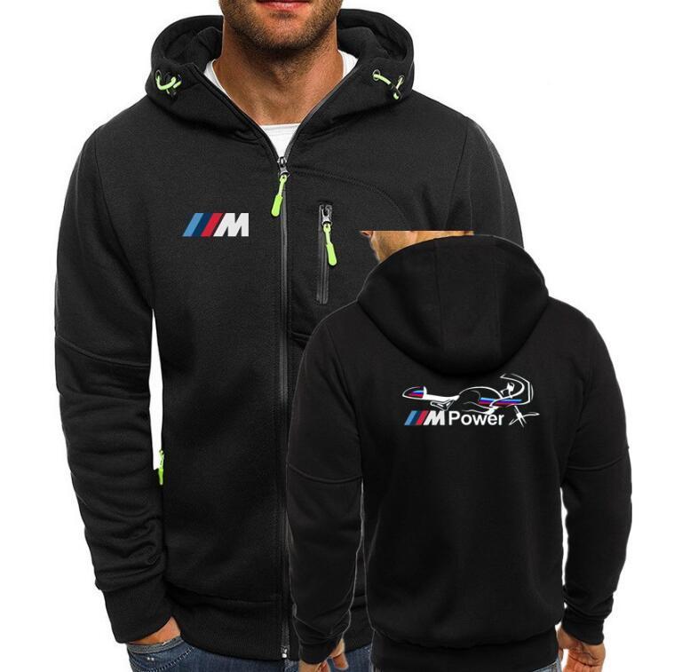 62160856 Men s Hoodies Tracksuit Motorsport Power Print Autumn Winter Drawstring  Hooded Sweatshirt Long Sleeve Zip Slim Coat Male Jacket