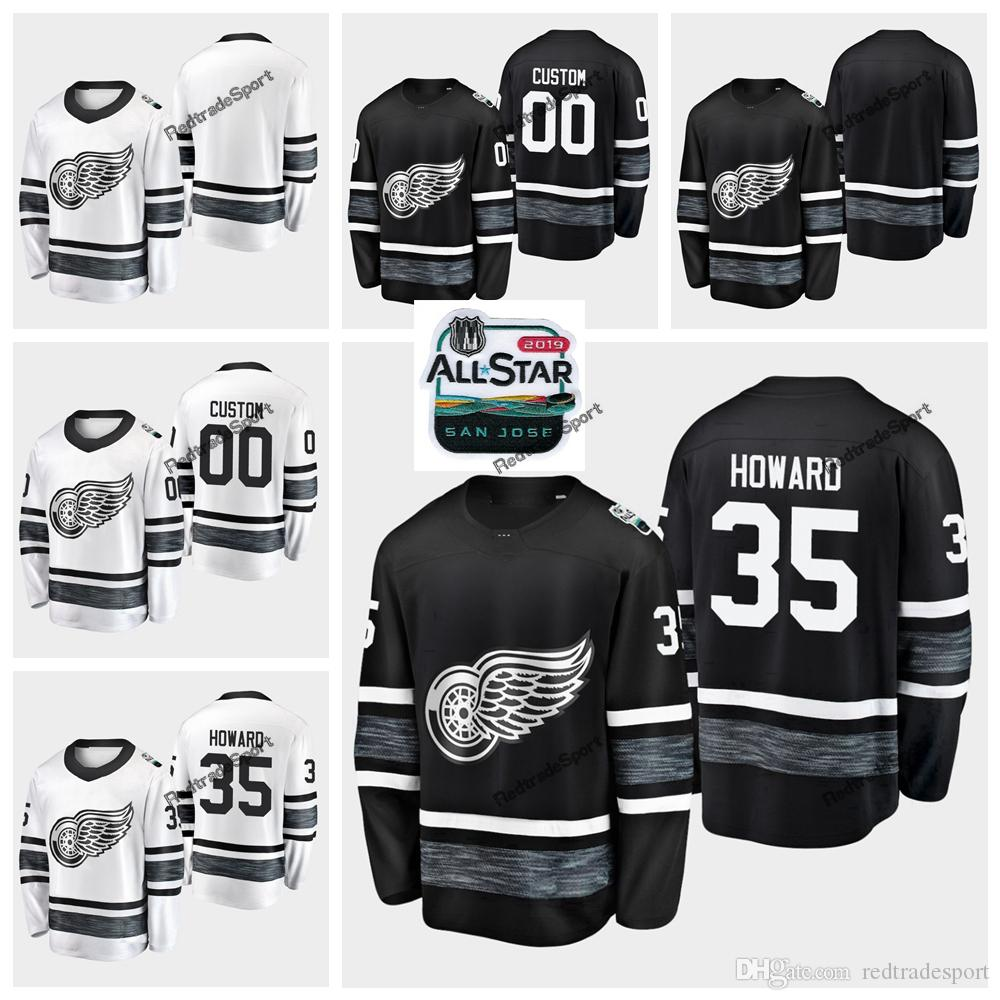 premium selection 0cbf7 42729 2019 All-Star Game Parley Customize Jerseys Black White #35 Jimmy Howard  Detroit Red Wings Hockey Jerseys All Star Stitched Shirts S-XXXL