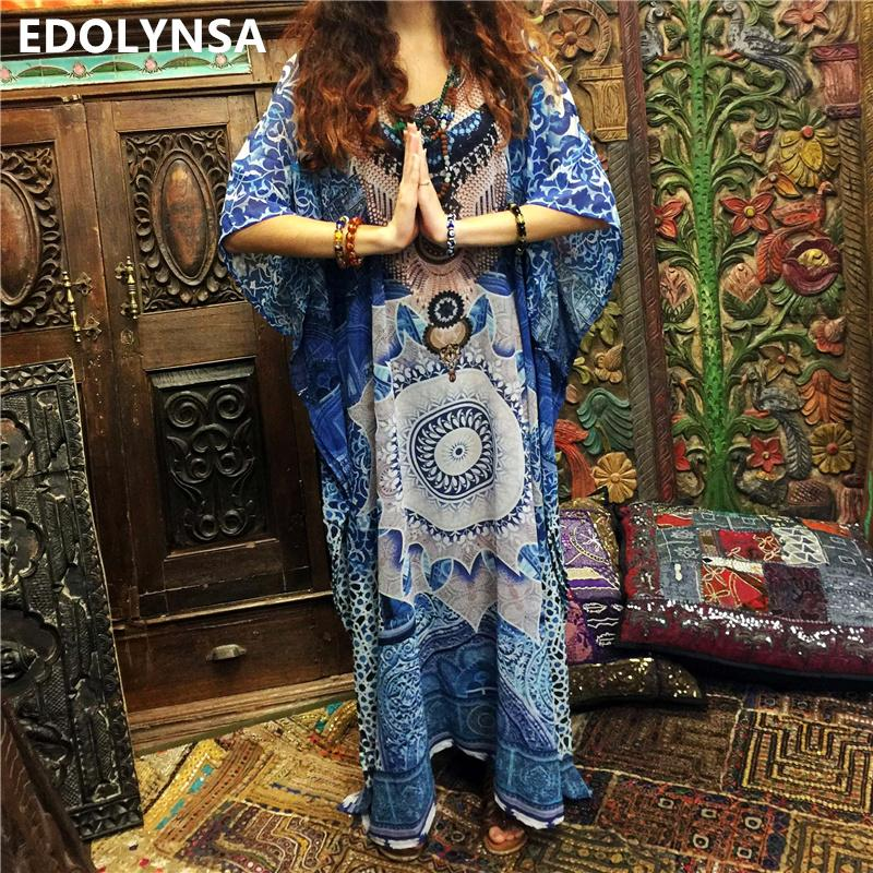 9caeee293c0e7 2019 2019 Print Cotton Plus Size Beach Dress Sarong Beach Cover Up ...