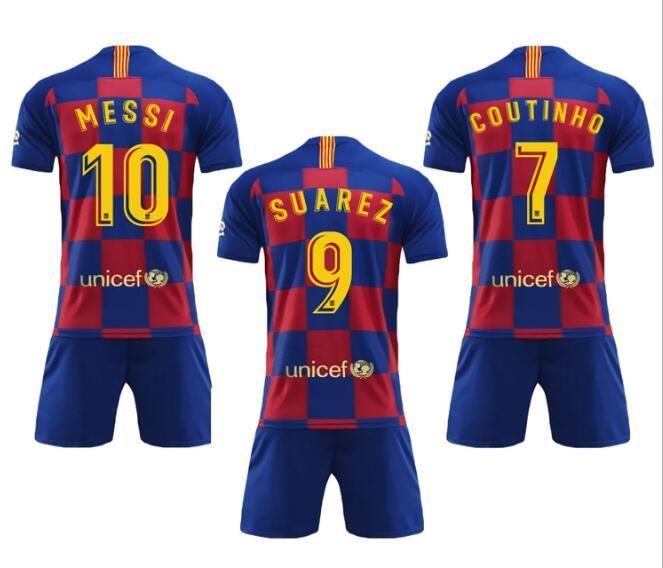 timeless design b0456 9d2b2 New 2018 2019 Barcelona Kids Memorial Jersey SUAREZ O.DEMBELE 18 19 FCB  Messi soccer jerseys PIQUE Coutinho Barcelona boys Football jerseys