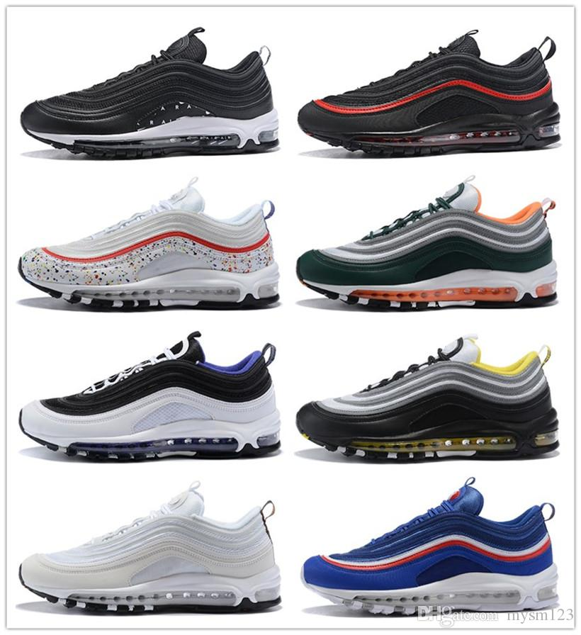 5bbbd27ba7c 2018 Max97 97 Og Undftd Undefeated Triple White Running Shoes Air97 OG  Metallic Gold Silver Bullet Mens Trainer Women Sports Sneakers Cheap Shoes  Free ...