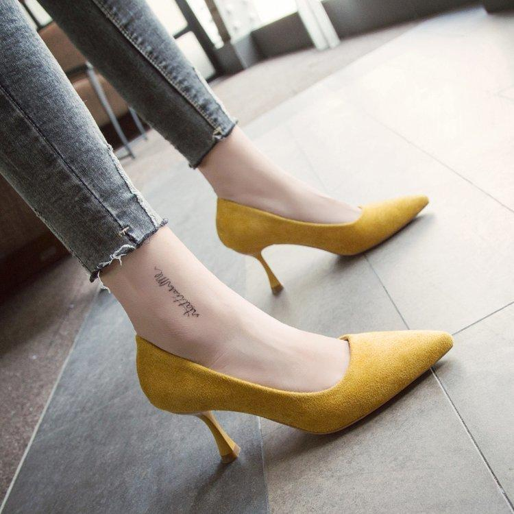b3f7bf12e53 Designer Dress Shoes EOEODOIT Autumn Low Kitten Heel Pumps Classic Stiletto  Heels Pointed Toe Women New 2019 Office Work Pumps Slip On 3 CM Comfort  Shoes ...