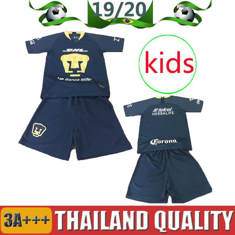 afcd89600c 2019 2018 2019 Kids Kit MEXICO LIGA UNAM America Club Universidad Van  Rankin Soccer Jerseys 2018 Castillo Cougar SOSA 18 19 Boys Football Shirts  From ...