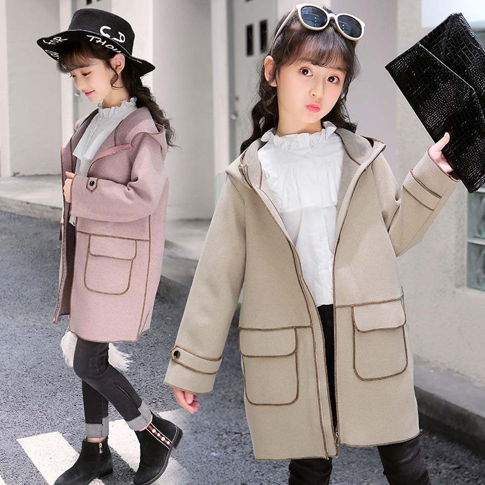 44dcf0b48691 2018 Girls Clothes Trench Coats Jackets For Clothing Tops Kids ...