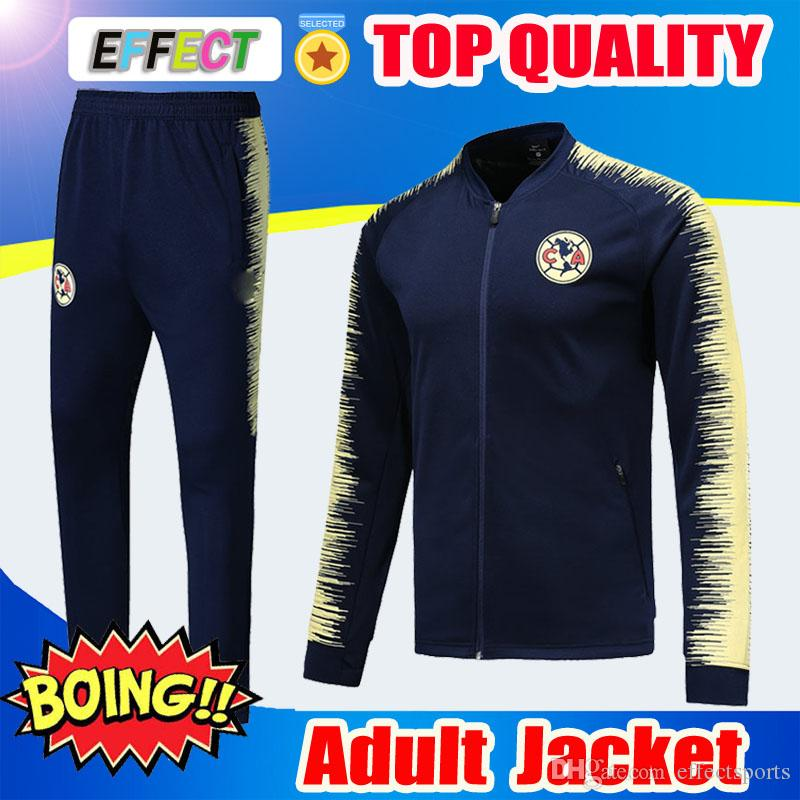 210c77fdb53 2019 Survetement 2019 Copa America Mexico Club America Soccer Jacket 18 19 20  Tracksuit Chivas UNAM Long Sleeve Training Soccer Jacket Kit From  Effectsports ...