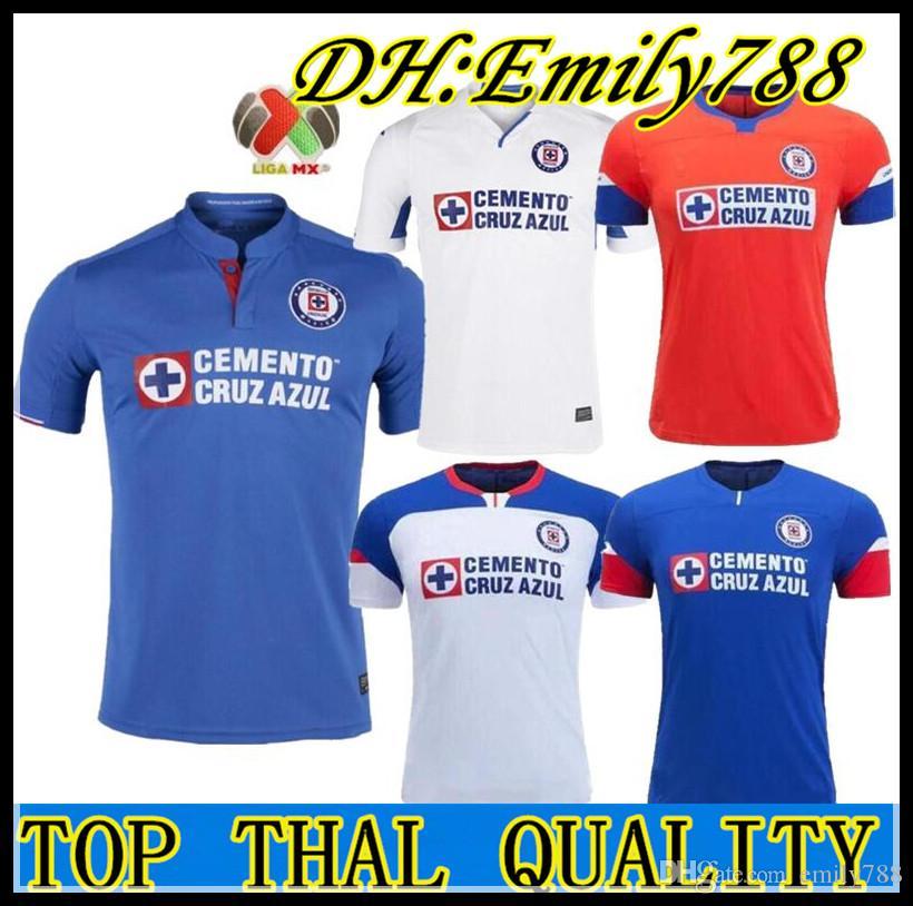 f43b304695c72 2019 2020 México Club Cruz Azul Liga MX Camisetas De Fútbol 19 20 Camisetas  De Fútbol Locales Dispuestas Camisetas De Football Shirt Maillot Por  Emily788