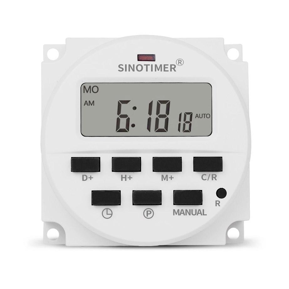 Sinotimer Tm618H 2 220V Ac Digital Time Switch Output Voltage 220V 7
