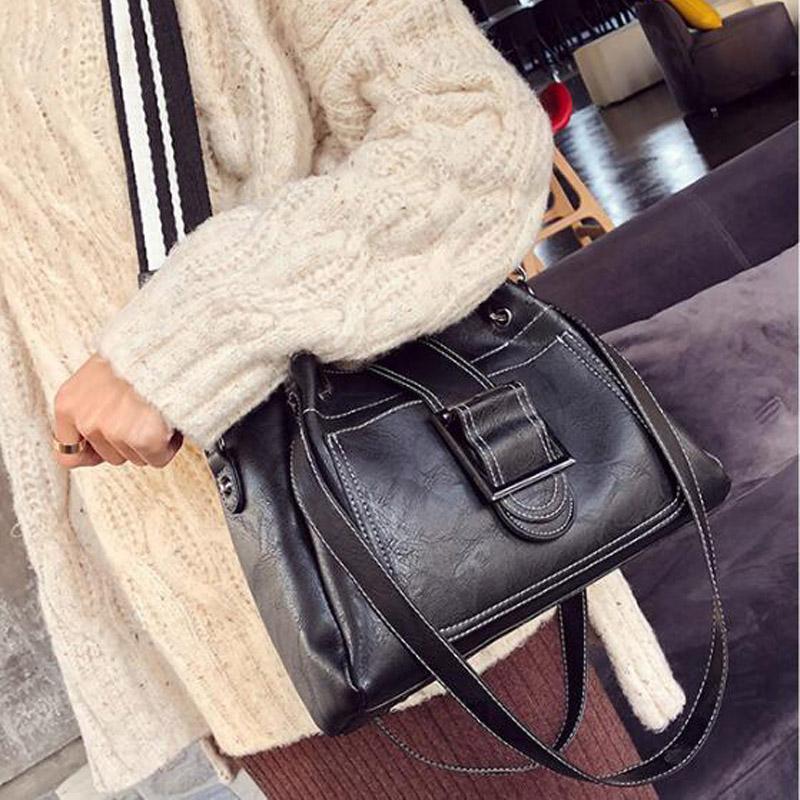 Cheap White Black Tote Shoulder Bag Best Leather Long Strap Shoulder Bags a6f73af71e363