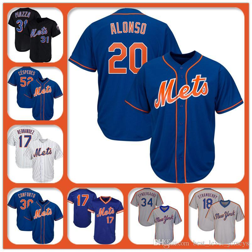 info for b266c 9bc53 31 Mike Piazza Mets Jersey 48 Jacob deGrom Jersey 34 Noah Syndergaard  Jersey 18 Darryl Strawberry 52 Cespedes New York Coolbase jerseys