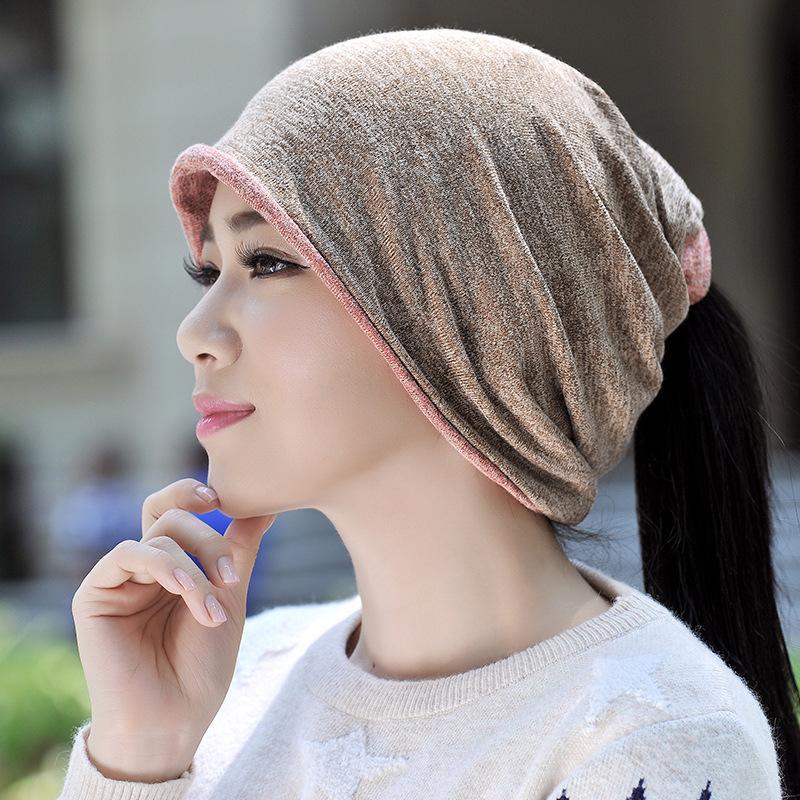 0d402ebd3c9 Autumn Winter Cotton Hats Men Women Skullies Beanies Fashion Korean Style  Cotton Scarf And Headgear Dual Purpose Cap Beanie Kids Skull Caps From  Wdrf