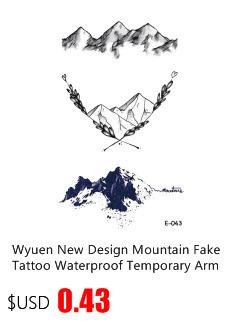 2017 NEW Hot Design Temporary Tattoo Tatoo for Adults Waterproof Sticker Abstract Vane Wild Body Art Cross Fake Tattoo Man Woman