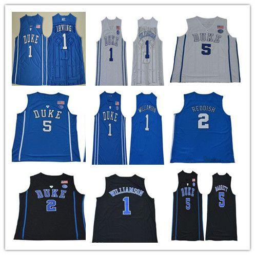 c1766dc2f336 2019 Men S 2019 College Duke Blue Devils 1 Zion Williamson 5 RJ Barrett 2  Cameron Reddish Kyrie Irving 35 Bagley III Ncaa Basketball Jersey Cheap  From ...