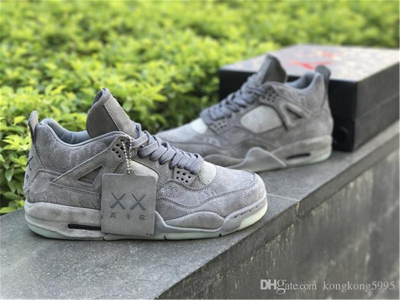 4190503a60f5 Hottest 4 XX Kaws Cool Grey 4S IV Basketball Shoes For Men Authentic  Quality Sneakers With Original Box 930155 003 Canada 2019 From  Kongkong5995