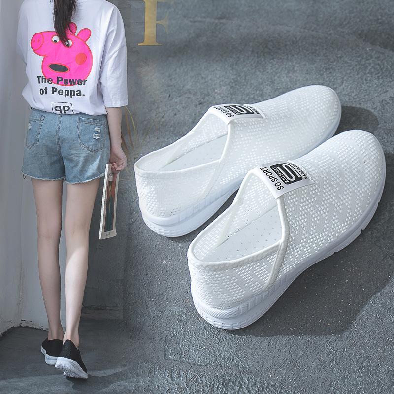3c07268ac Women Shoes 2018 Fashion Casual Ladies Breathable Platform Flat ...